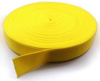 25 Meter Rolle Gurtband 3 cm / 30mm breit gelb