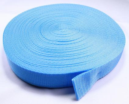 25 Meter Rolle Gurtband 3 cm / 30mm breit - hellblau