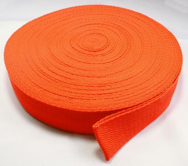 25 Meter Rolle Gurtband 3 cm breit orange