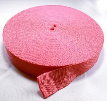 25 Meter Rolle Gurtband 3 cm / 30mm breit pink