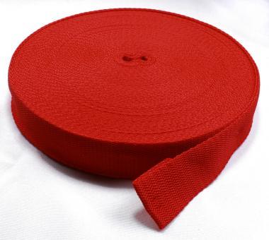 25 Meter Rolle Gurtband 3 cm / 30mm breit rot