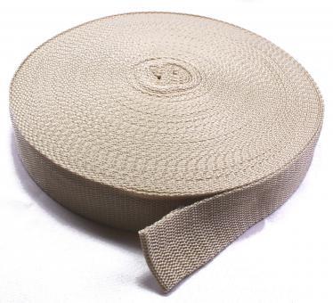25 Meter Rolle Gurtband 3 cm/ 30mm breit Sand