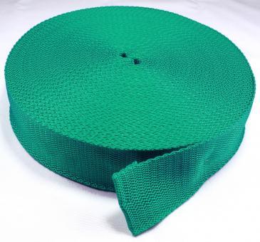 25 Meter Rolle Gurtband 4cm breit smaragd-grün
