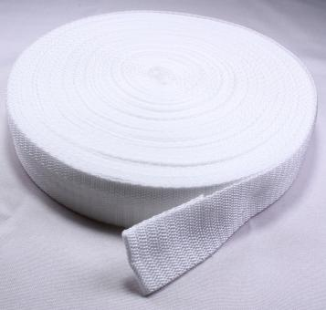 25 Meter Rolle Gurtband 3 cm / 30mm breit weiß