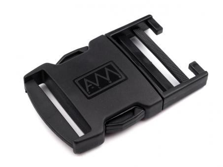 Gurtverschluss schwarz 4,0 cm Kunststoff