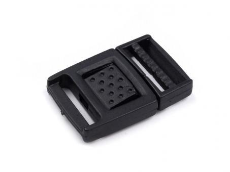 Gurtverschluss schwarz 1,5 cm Kunststoff