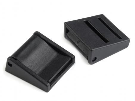 Klappschnalle 3cm / 30mm in Kunststoff schwarz