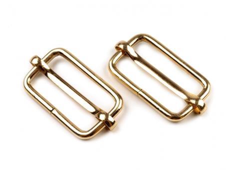 4 Stück Schiebeschnalle 25mm Gold glänzend