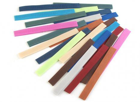 20 Stück Klettverschlussband Farbenmix 2cm breit 20 Farben