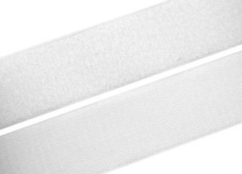 1 Meter Klettverschlussband 50mm / 5cm breit, weiß