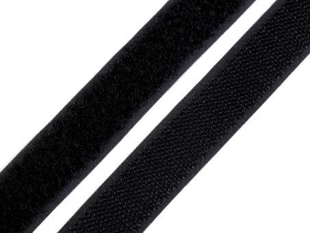 1 Meter Klettverschlussband 2cm breit, Klettband schwarz