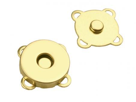 10 Magnete zum Annähen / Aufnähen Gold glänzend 18mm Durchmesser