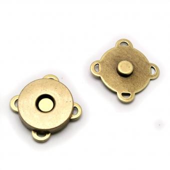 10x Magnete zum Annähen / Aufnähen Altmessing 18mm Durchmesser