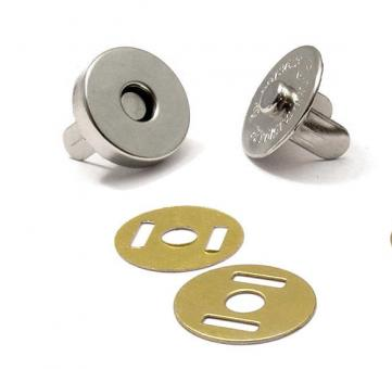 Magnetverschluss Nickel glänzend 15 mm für Taschen