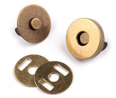 Magnetverschluss Altmessing 18 mm für Taschen