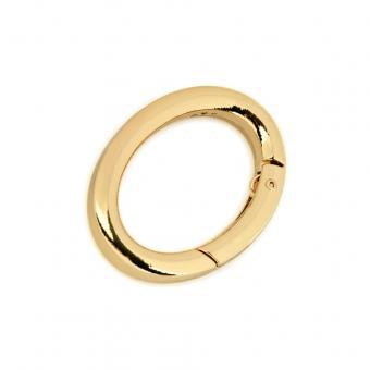 Karabiner Oval 19 x 29 mm innen - Gold glänzend