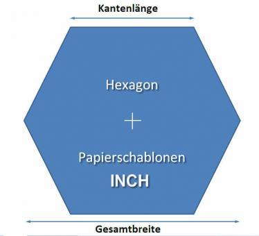 Papierschablonen Hexagons 1/2 Inch - 180 Stück 160 Gramm Papier 2Blatt