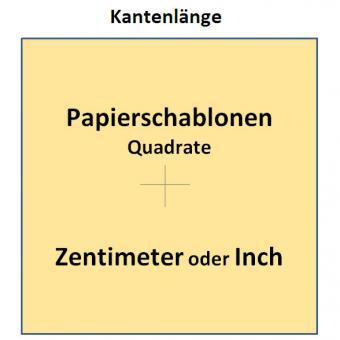 Papierschablonen Quadrate 4cm / 40mm Kantenlänge - 50 Stück 160 Gramm Papier