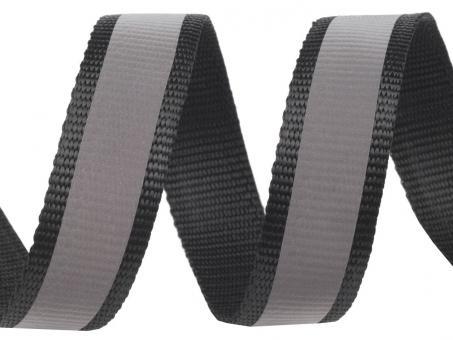 4 Meter schwarzes Gurtband Reflektionsband 3 cm / 30mm breit