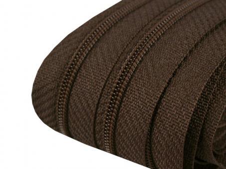 3m Endlos-Reißverschluss dunkelbraun 3mm incl. 10 Zipper