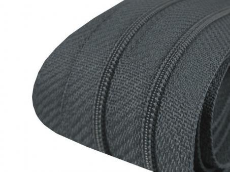 3m Endlos-Reißverschluss dunkelgrau, 3mm incl. 10 Zipper
