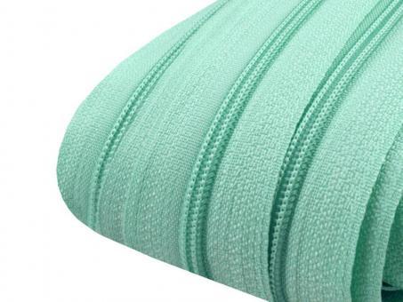 3m Endlos-Reißverschluss mintgrün 3mm incl. 10 Zipper