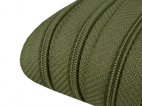3m Endlos-Reißverschluss olivgrün 3mm incl. 10 Zipper