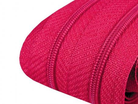 3m Endlos-Reißverschluss pink 3mm incl. 10 Zipper