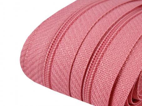 3m Endlos-Reißverschluss rosa 3mm incl. 10 Zipper