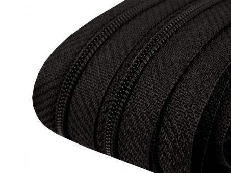 3m Endlos-Reißverschluss schwarz, 3mm incl. 10 Zipper
