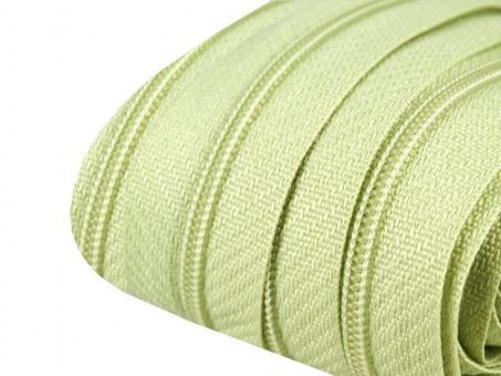 3m Endlos-Reißverschluss zartgrün 3mm incl. 10 Zipper