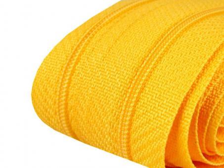 3m Endlos-Reißverschluss gelb 3mm incl. 10 Zipper