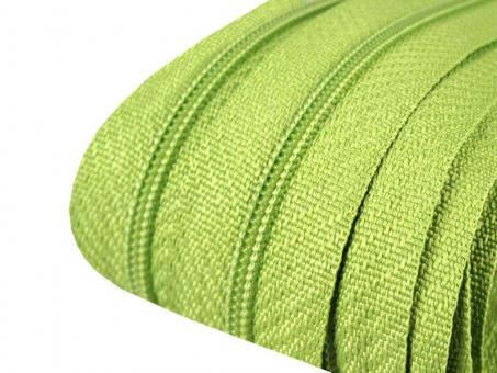 3m Endlos-Reißverschluss hellgrün 3mm incl. 10 Zipper