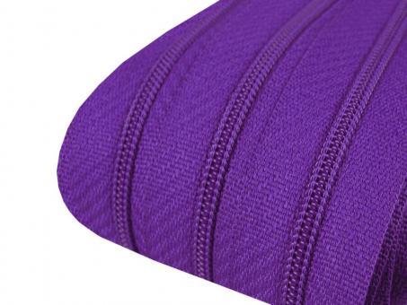 3m Endlos-Reißverschluss lila 3mm incl. 10 Zipper