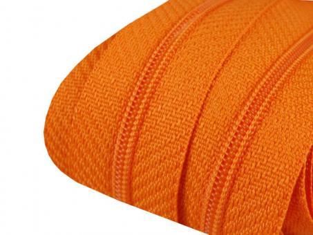 3m Endlos-Reißverschluss orange 3mm incl. 10 Zipper