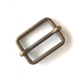 Schiebeschnalle oval 30mm Altmessing matt