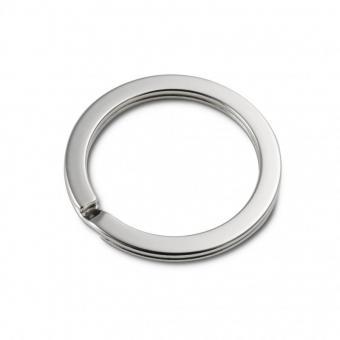 5 Schlüsselringe Ø 30mm innen  / 38mm aussen Nickel / Silber glänzend extra stark