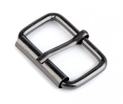 Gürtelschnalle Innenweite 3cm / 30mm - Farbe Nickel Schwarz glänzend