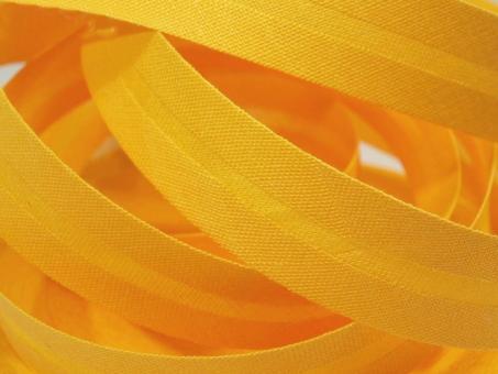 5 m Schrägband uni gelb 20mm 100% Baumwolle