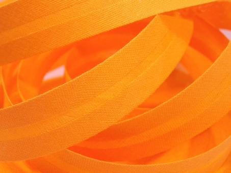 5 m Schrägband uni gelborange 20mm 100% Baumwolle