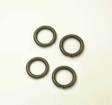 4 Stahlringe Altmessing 10 mm Innendurchmesser