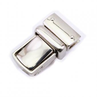 Steckschloss für Taschen, Rucksäcke, Koffer 23mm Nickel poliert