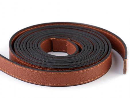 2 Stück Taschengriffe Braun 120cm aus Eco-Leder vernäht