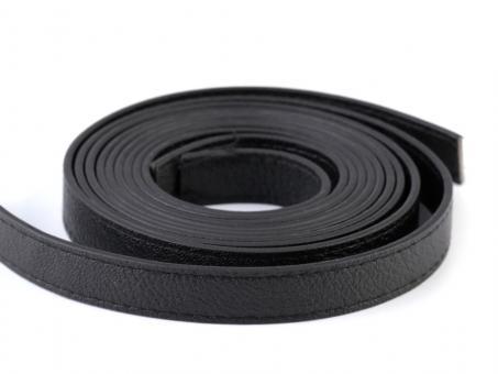 2 Stück Taschengriffe Schwarz 120cm aus Kunstleder gesteppte Kanten