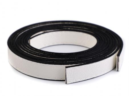 2 Stück Taschengriffe weiss 120cm aus Eko-Leder Kanten abgesteppt