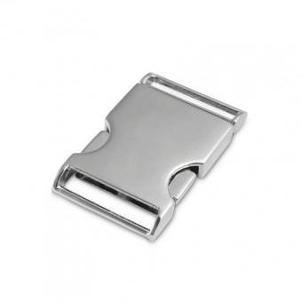 Taschenverschluss 2-teilig Nickel glänzend 3cm