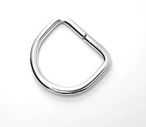 D-Ring Nickel glänzend 30mm / 3cm Drahtstärke 5mm