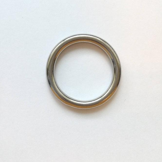 Edelstahl Rundring Silber glänzend 25mm verschweißt