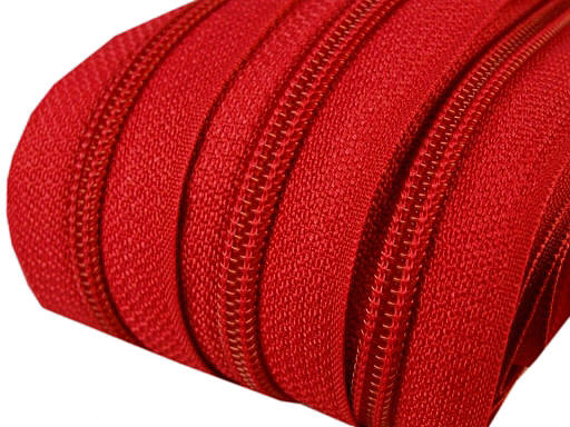 5m Endlos-Reißverschluss rot 5mm incl. 10 Zipper