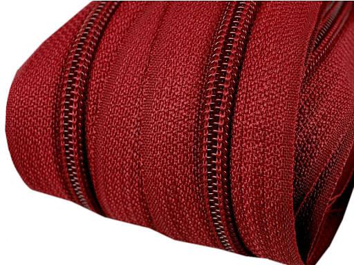 5m Endlos-Reißverschluss wein-rot 5mm incl. 10 Zipper